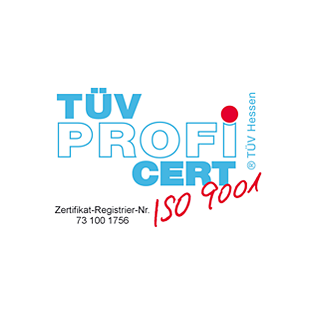 TÜV Zertifizerung nach DIN ISO 9001